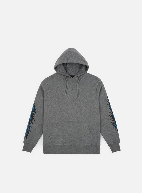 felpe santa cruz flame dot hoodie dark heather