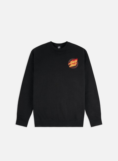 Felpe Girocollo Santa Cruz Flaming Japanese Dot Crewneck
