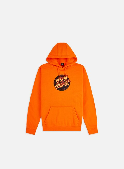 Santa Cruz Flaming Japanese Dot Hoodie