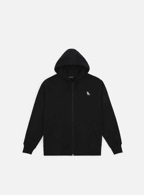 felpe santa cruz ghost lady zip hoodie black
