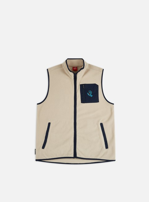 Felpe con Zip Santa Cruz Hand Polar Fleece Vest
