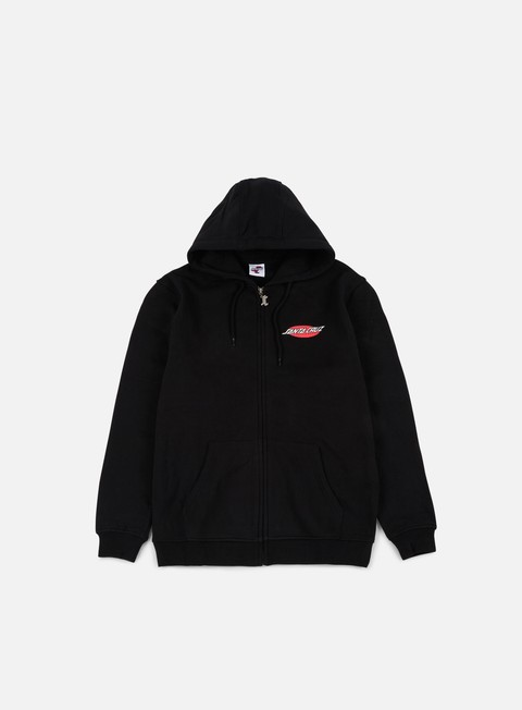 felpe santa cruz phillips hand zip hoodie black