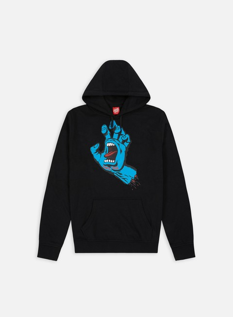 felpe santa cruz screaming hand hoodie black