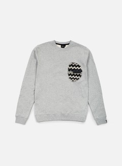 Southfresh - Zigzag Zip Pocket Crewneck, Heather Grey/Black 1