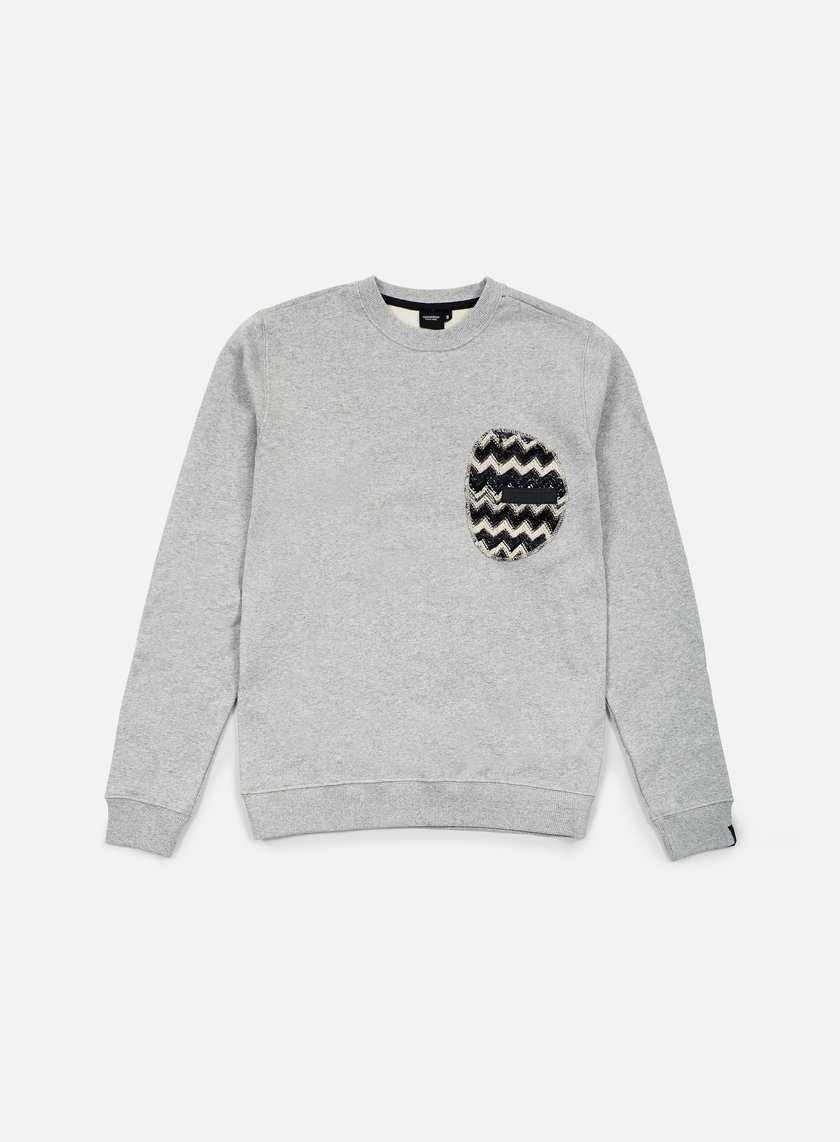Southfresh - Zigzag Zip Pocket Crewneck, Heather Grey/Black