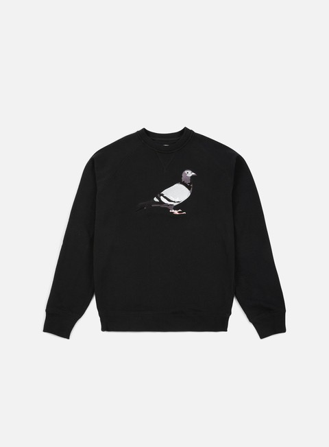 felpe staple basic pigeon crewneck black