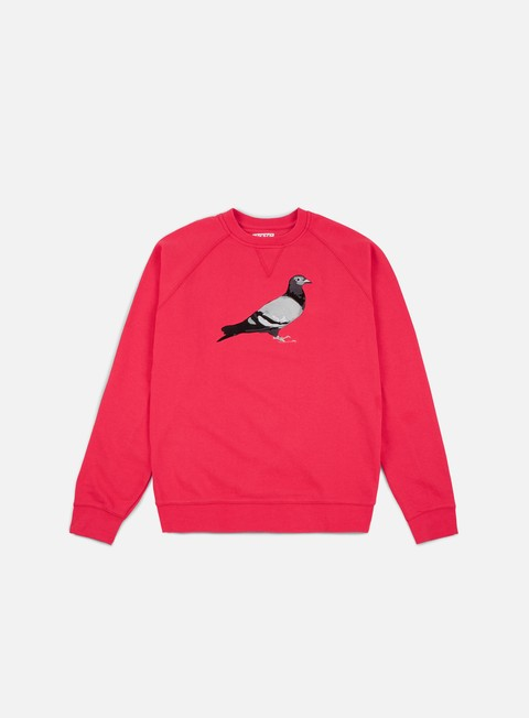 felpe staple basic pigeon crewneck lava