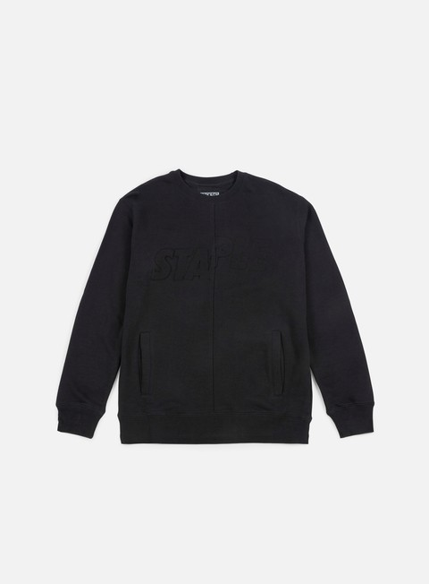 felpe staple boss crewneck black