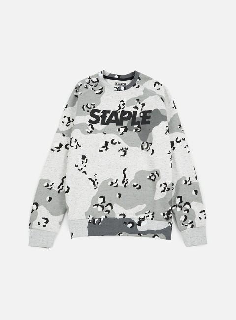 felpe staple concrete logo crewneck heather grey
