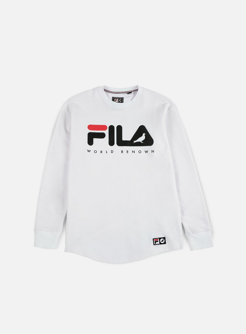 Staple - Fila Loopback Crewneck, White