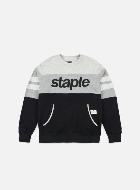 felpe staple logo crewneck black