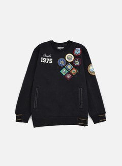 Staple - Patch Quilted Crewneck, Black 1