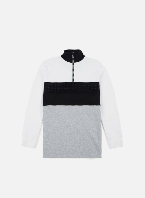 Felpe con Zip Staple Tape Mockneck Sweatshirt