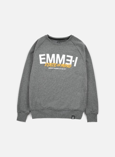 felpe state of mind emme i celebration iii crewneck dark heather grey