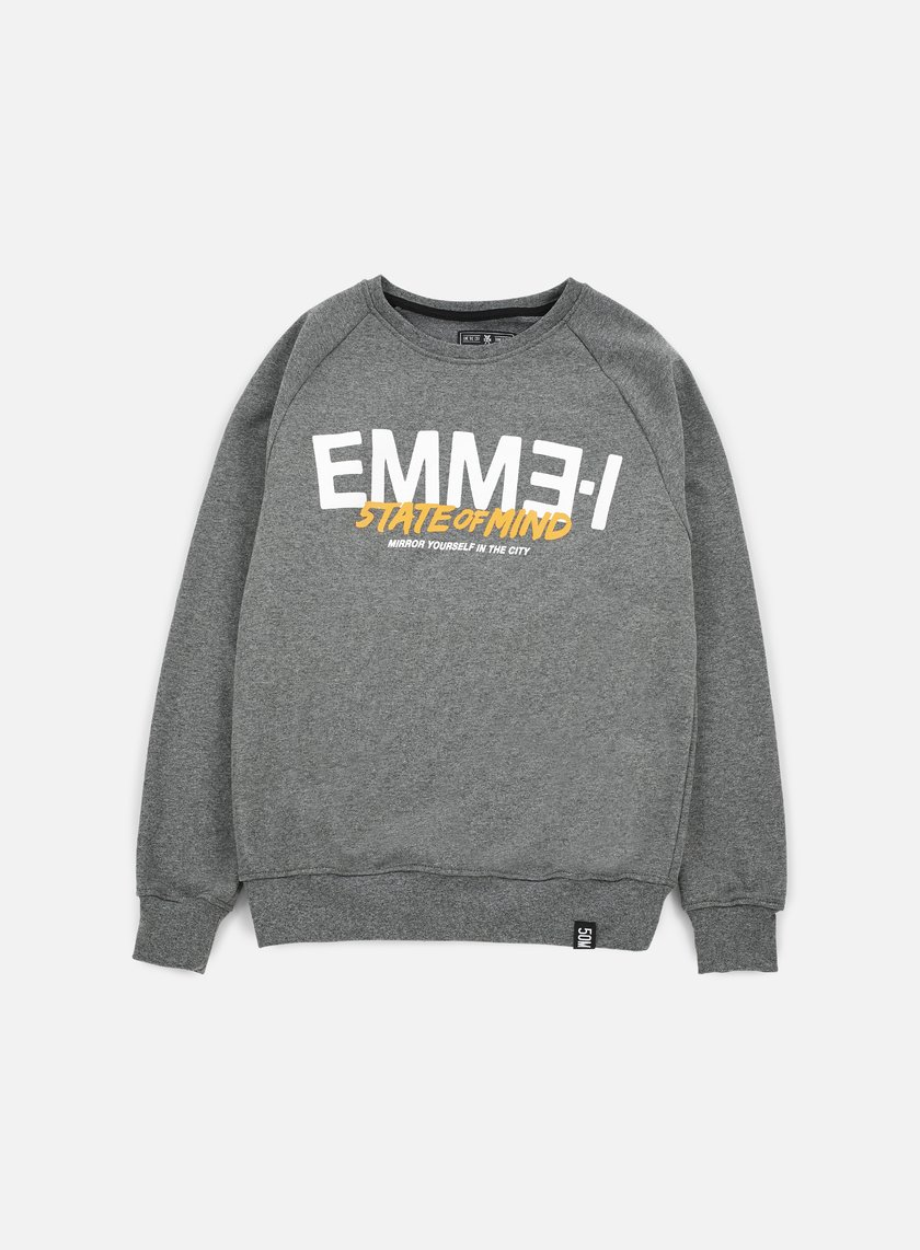 State Of Mind - Emme-I Celebration III Crewneck, Dark Heather Grey