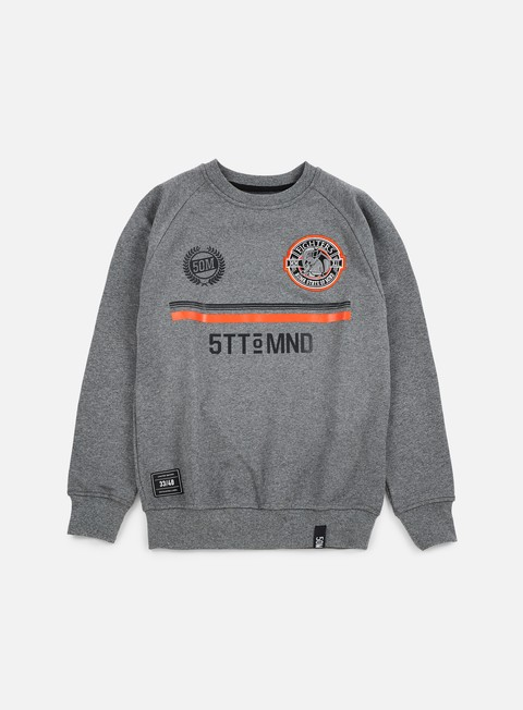 felpe state of mind fighters football crewneck dark heather grey