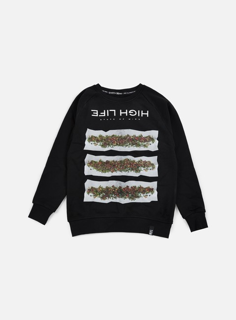 felpe state of mind high life ii crewneck black