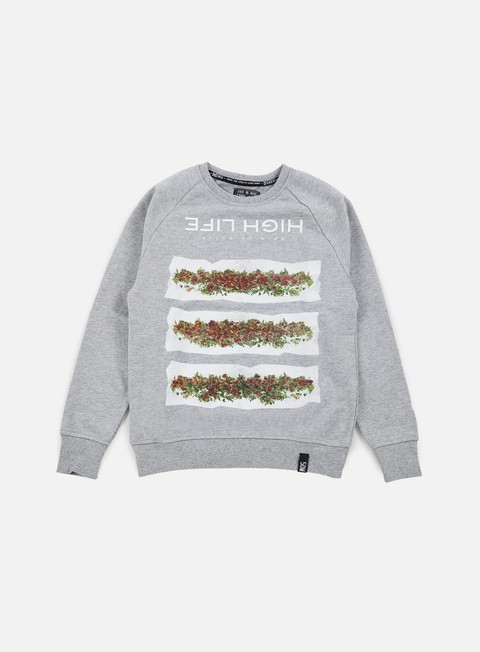 felpe state of mind high life ii crewneck heather grey