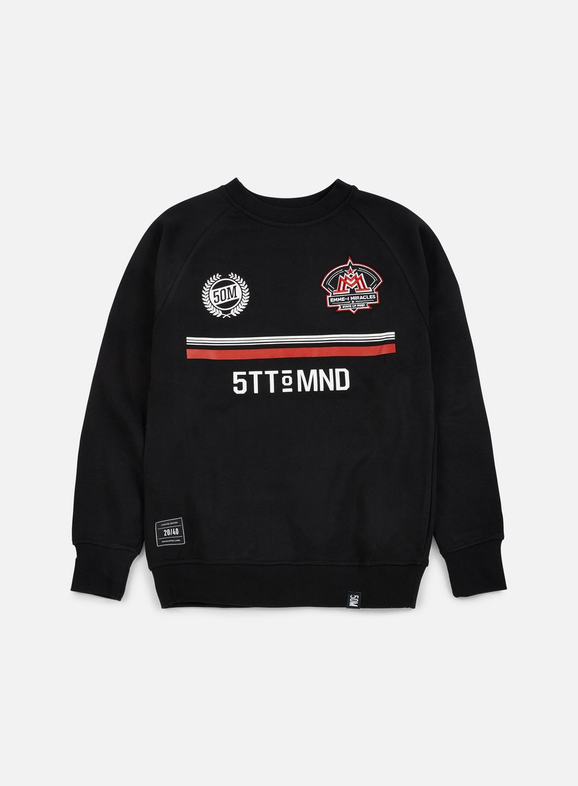 State Of Mind - Miracles Football Crewneck, Black