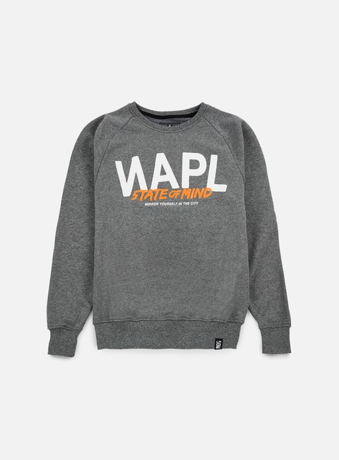felpe state of mind napl celebration iii crewneck dark grey heather