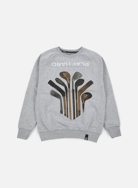 felpe state of mind play hard ii crewneck heather grey