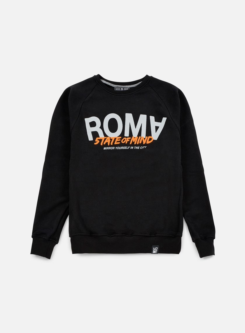 State Of Mind - Roma Celebration III Crewneck, Black