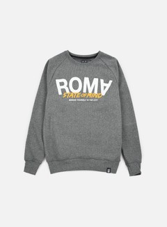 State Of Mind - Roma Celebration III Crewneck, Dark Heather Grey