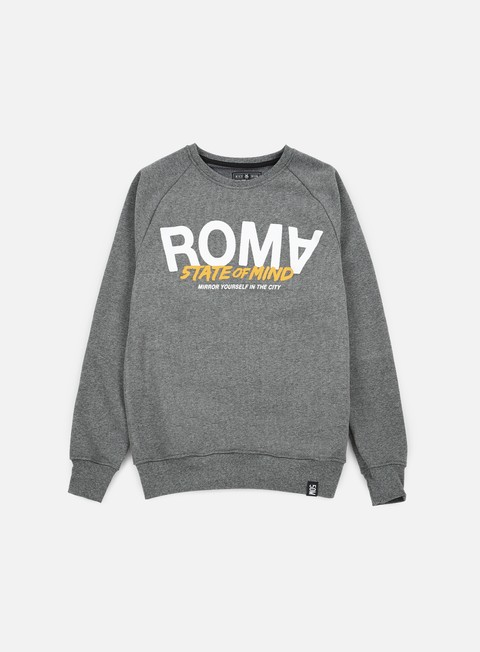 felpe state of mind roma celebration iii crewneck dark heather grey