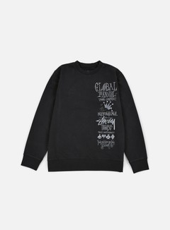 Stussy - 1st Annual Applique Crewneck, Black 1