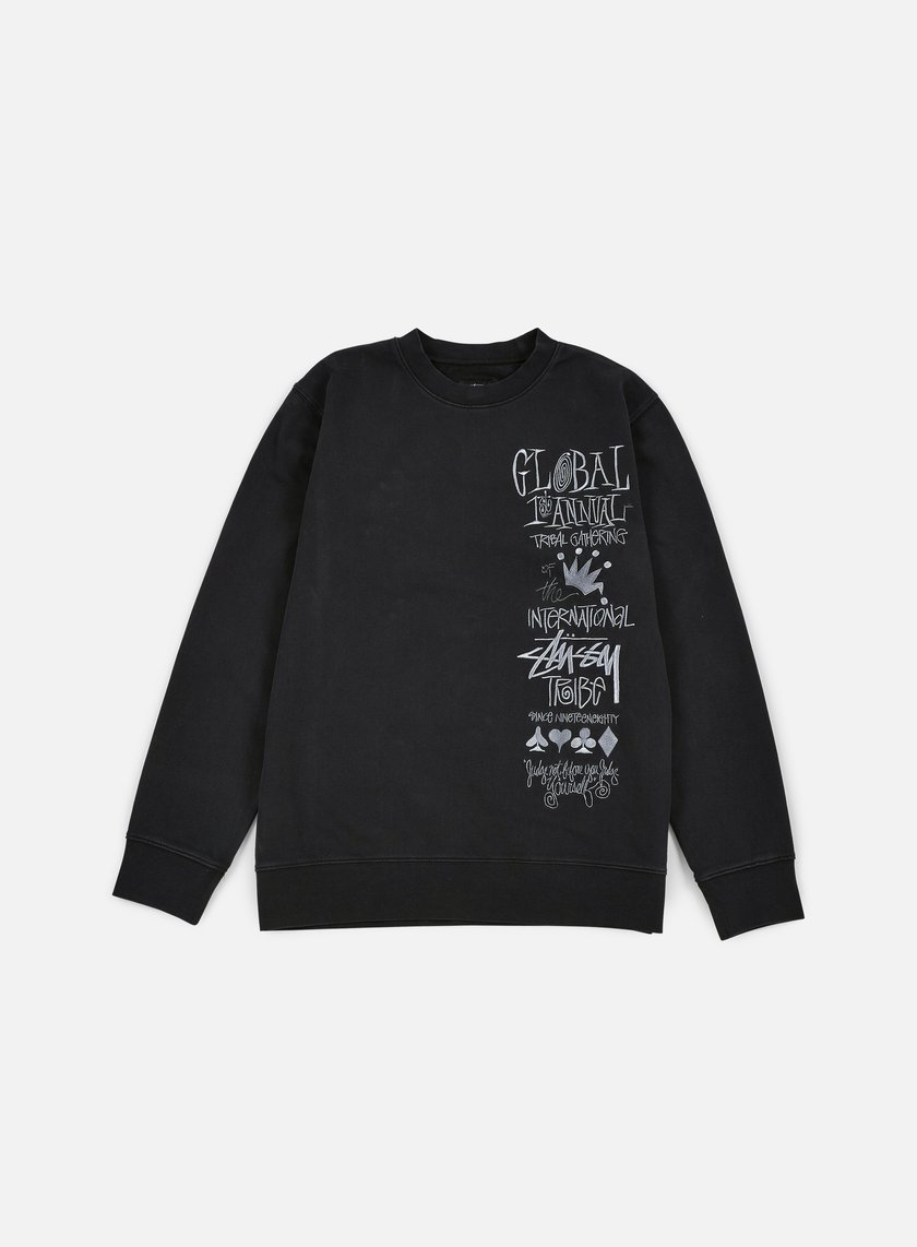 Stussy - 1st Annual Applique Crewneck, Black