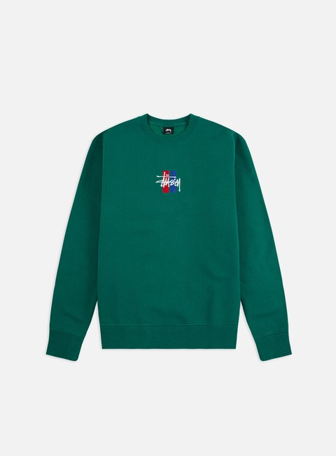 eae4f73cc00 Crewneck Sweatshirts Stussy 2 Bar Stock Applique Crewneck