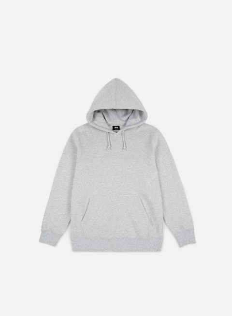 felpe stussy arch applique hoodie grey heather