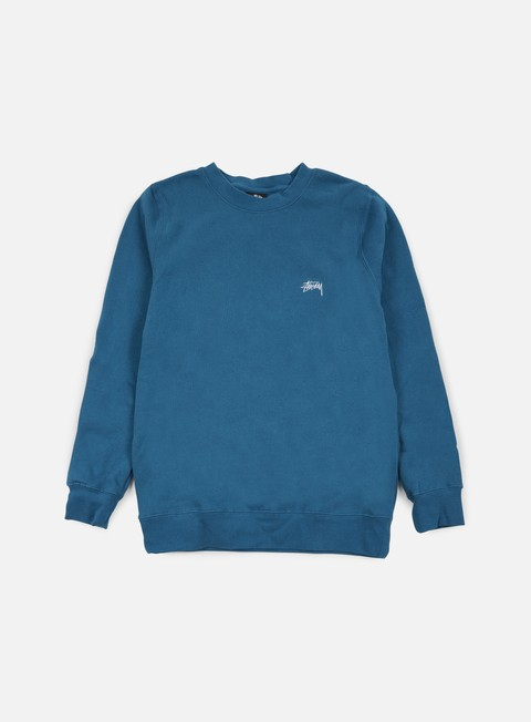 felpe stussy back arc crewneck blue