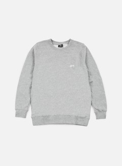 Stussy - Back Arc Crewneck, Grey Heather