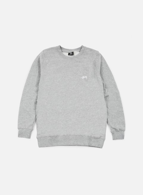felpe stussy back arc crewneck grey heather