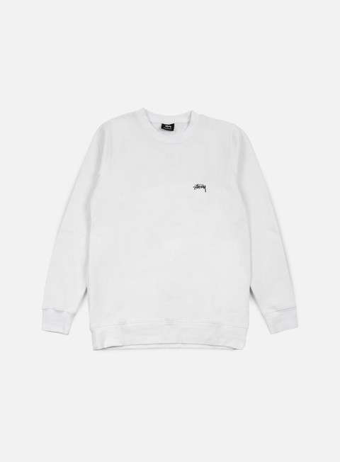 felpe stussy back arc crewneck white