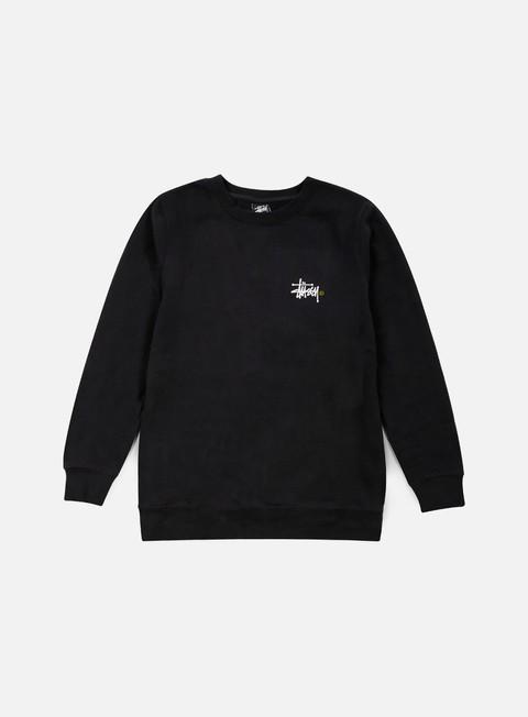 felpe stussy basic logo crewneck black