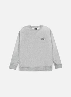 Stussy - Basic Logo Crewneck, Grey Heather 1
