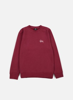 Stussy - Basic Stussy Crewneck, Grape/Rose