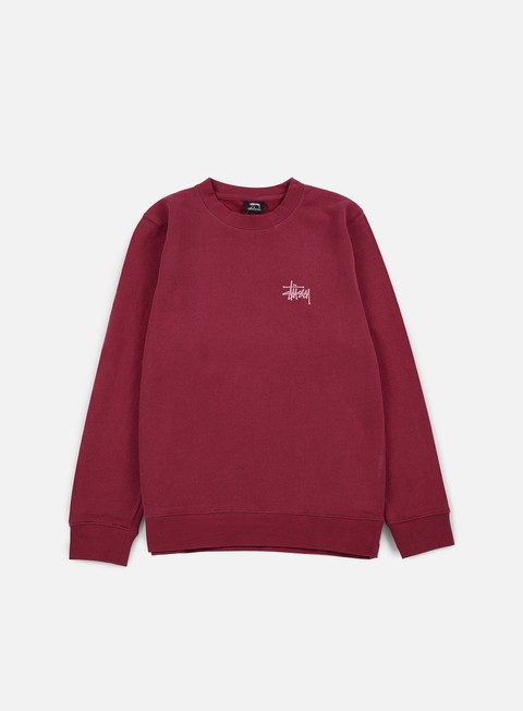 felpe stussy basic stussy crewneck grape rose
