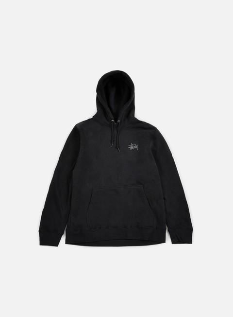 felpe stussy basic stussy hoodie black dark grey
