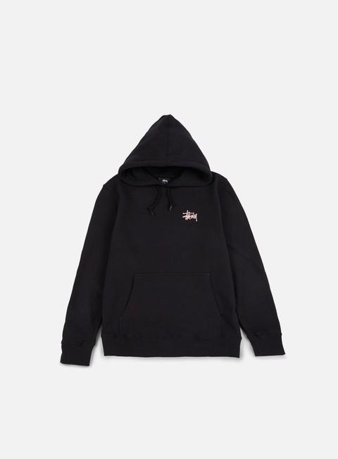 felpe stussy basic stussy hoodie black pink