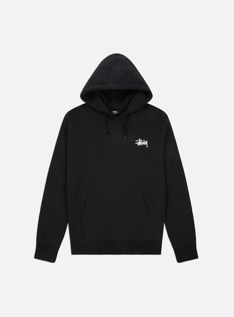 felpe stussy basic stussy hoodie black white