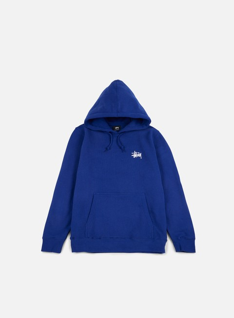 felpe stussy basic stussy hoodie dark blue white