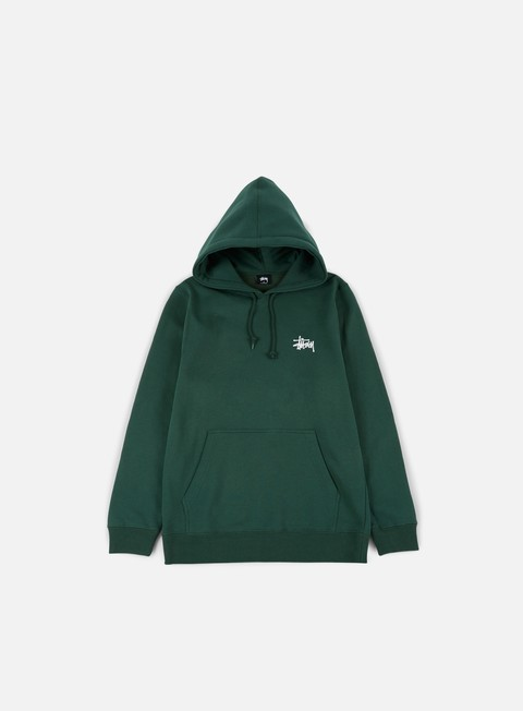 felpe stussy basic stussy hoodie dark forest white