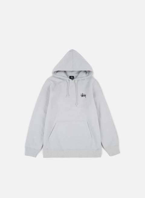felpe stussy basic stussy hoodie fog black