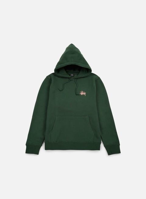 felpe stussy basic stussy hoodie pine rose