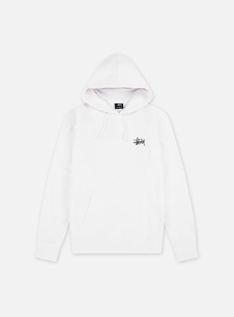 felpe stussy basic stussy hoodie white black