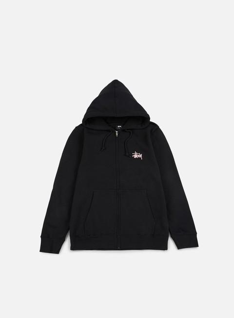felpe stussy basic stussy zip hoodie black pink