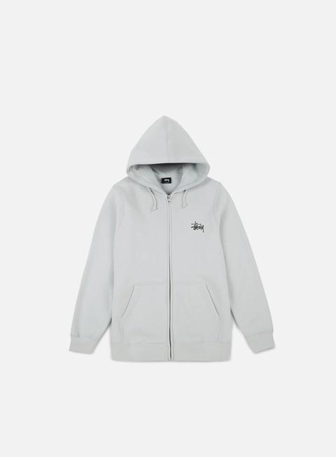 felpe stussy basic stussy zip hoodie fog black